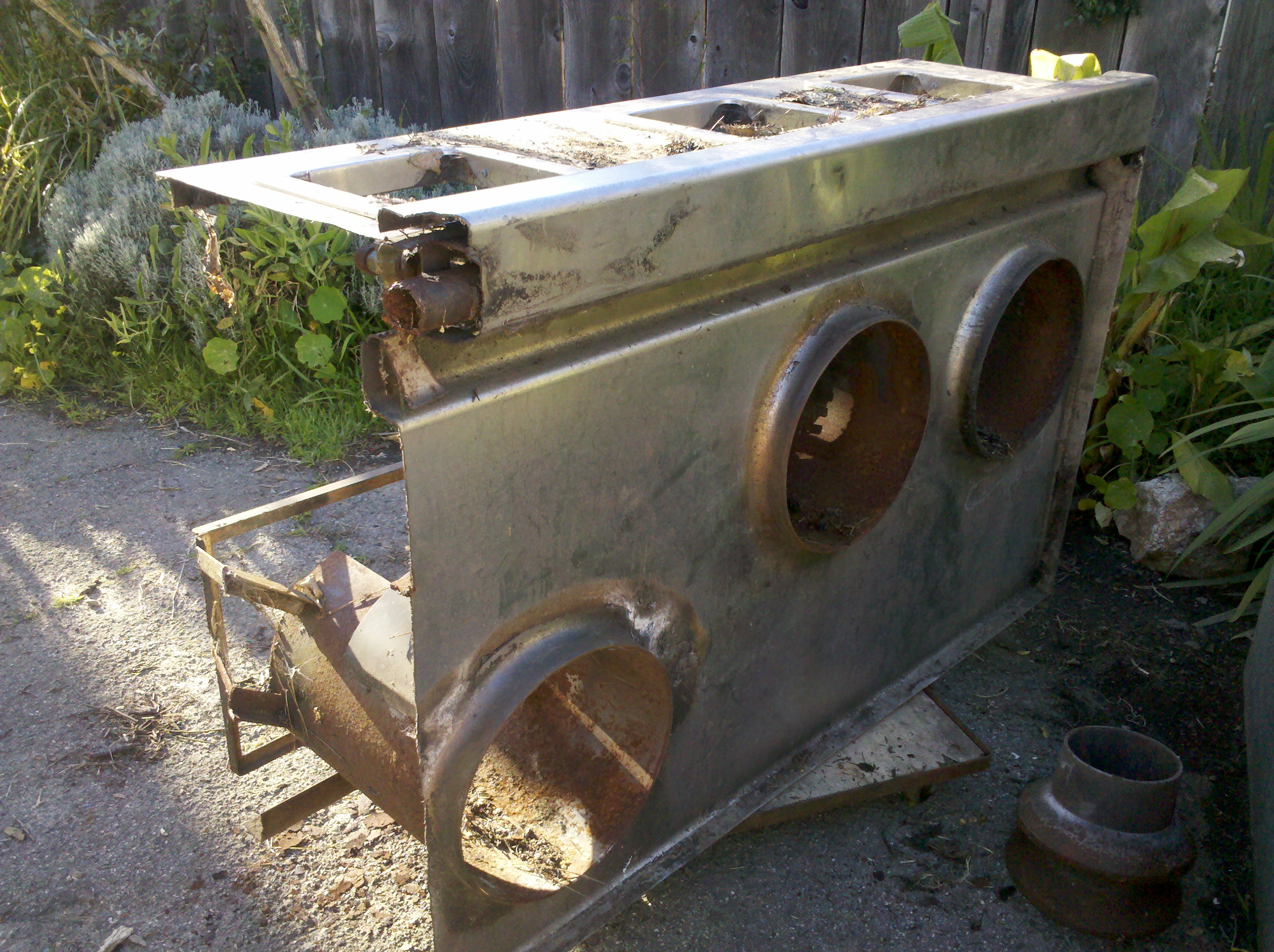 Fresh And Dirty Used Work Stove